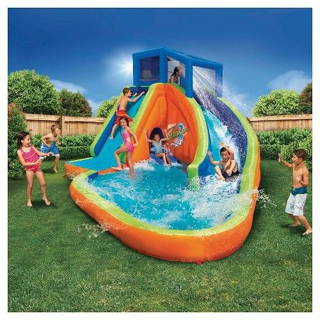 Banzai Sidewinder Falls Water Park Inflatable Water Park Inflatable Water Slide Kiddie Pool