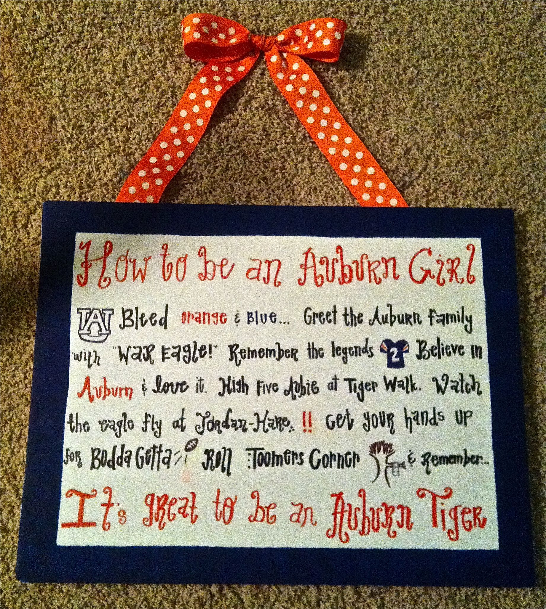 Auburn girl, on canvas! | My DIYs | Pinterest | Auburn and Diys