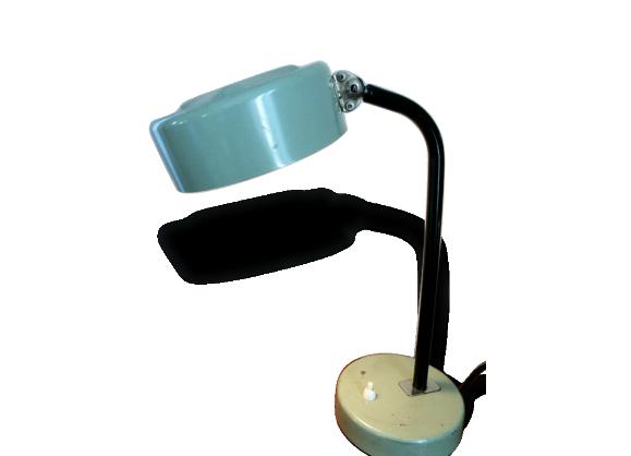 Lampe De Bureau Vintage Annees 70 Metal Gris Dans Son Jus