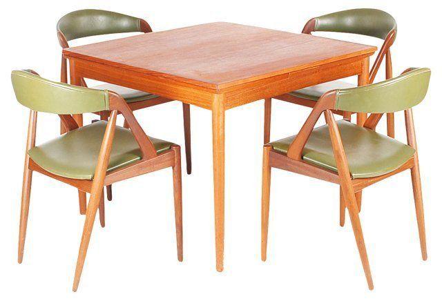 Danish Teak Dining Table 4 Chairs Teak Dining Table Dining Chairs Teak Dining Chairs