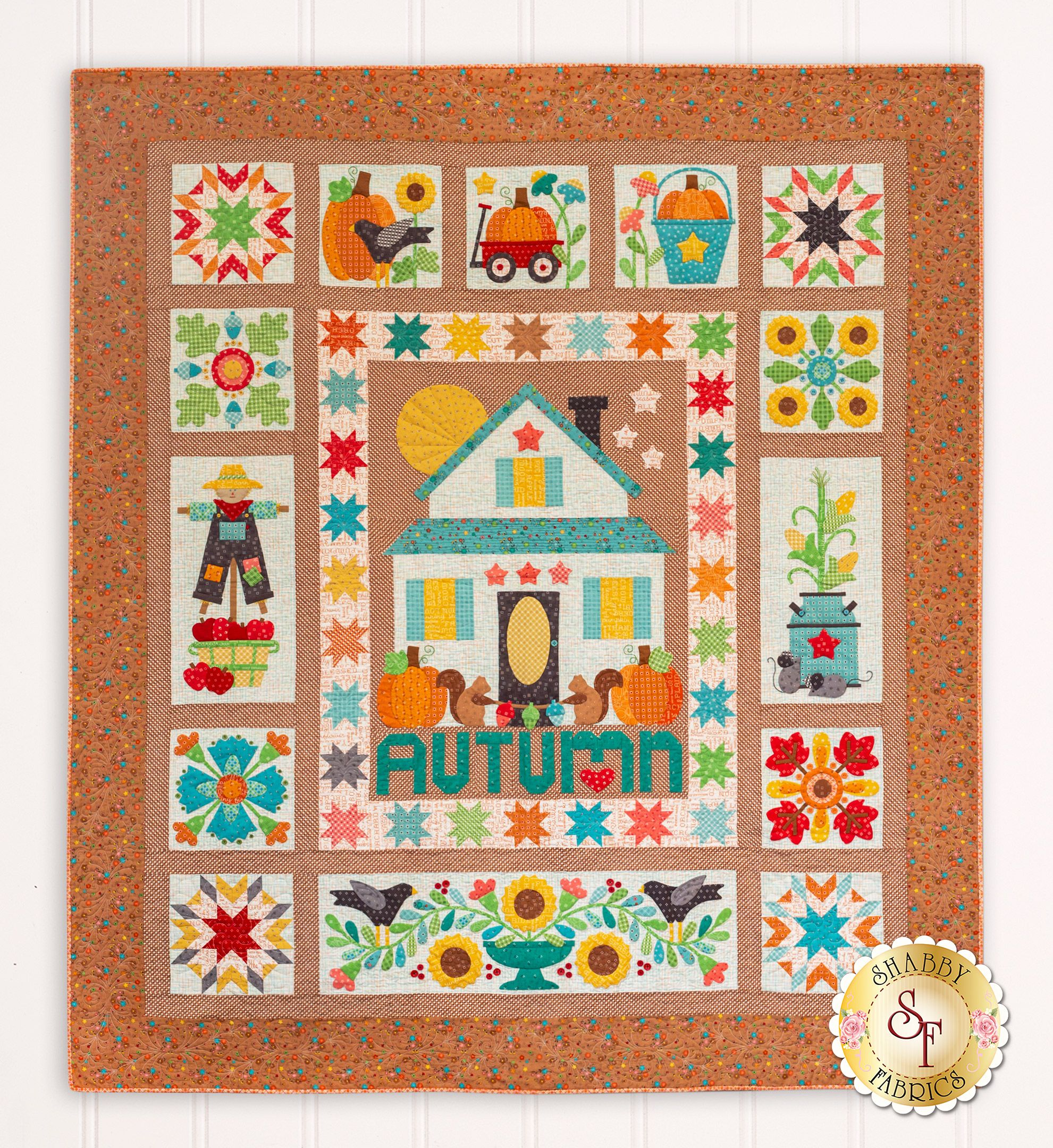 Autumn Love Quilt Kit This Adorable Quilt By Lori Holt Is Autumn Perfection From The Colors To The Sweet Details The Quaint Cou Quilts Quilt Kit Fall Quilts