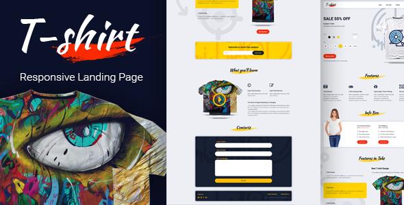 Download Free Tshirt Landing Page application design