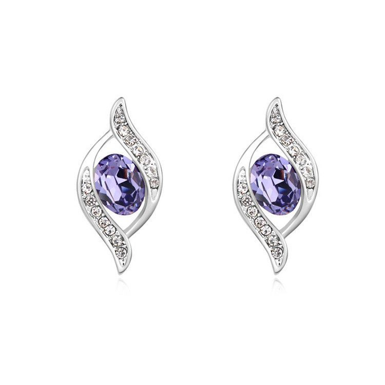 New Arrival Silver Stud Earrings Crystals from Swarovski Crystal for Swarovski Earring Women Jewelry Pendientes 5 Color
