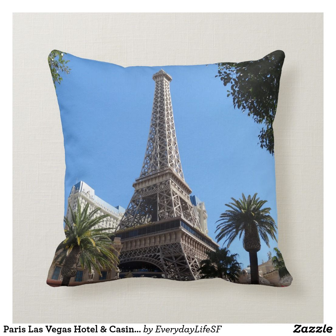 Paris Las Vegas Hotel Casino Pillow Zazzle Com Las Vegas