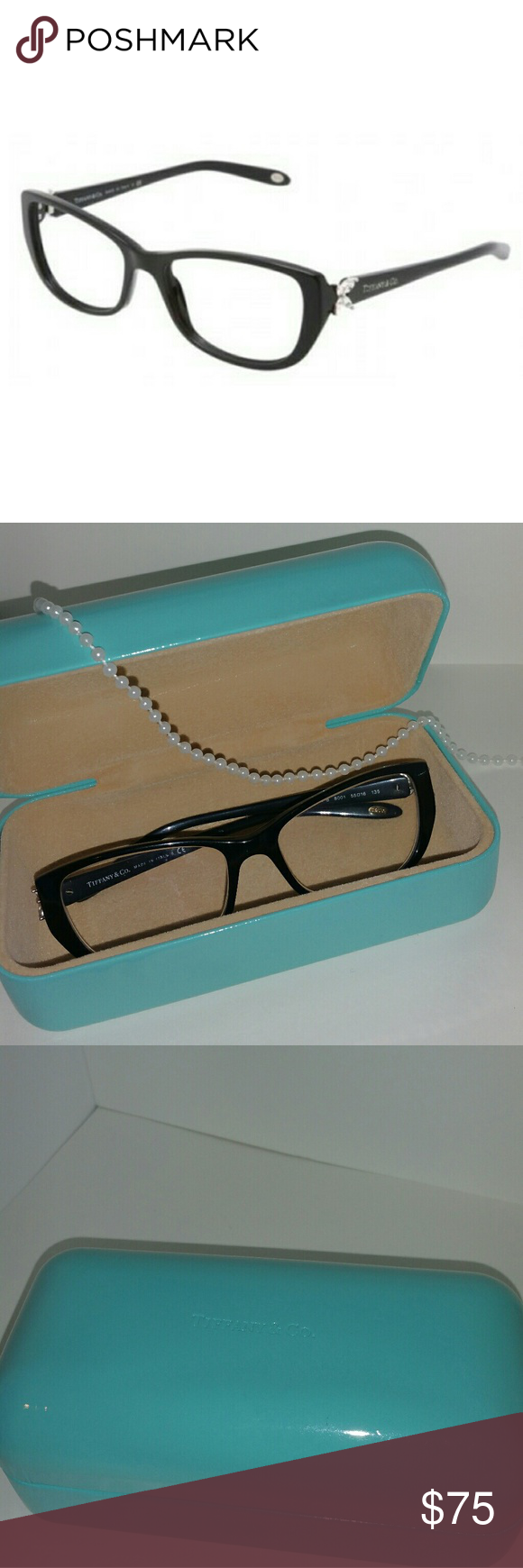 6578ded22853 Tiffany   Co. Eyewear TF 2044B BLACK FRAME   CASE These PRE L😍VED