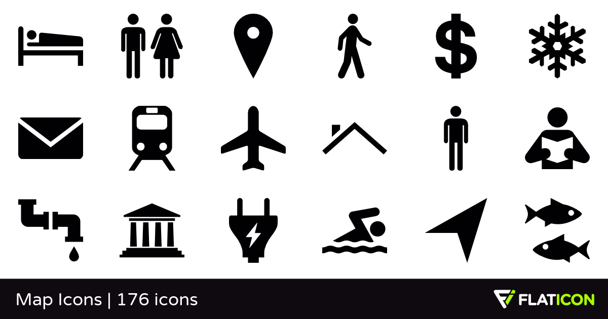 Pin by W4LLIS321 on map icons | Map icons, Vector icons