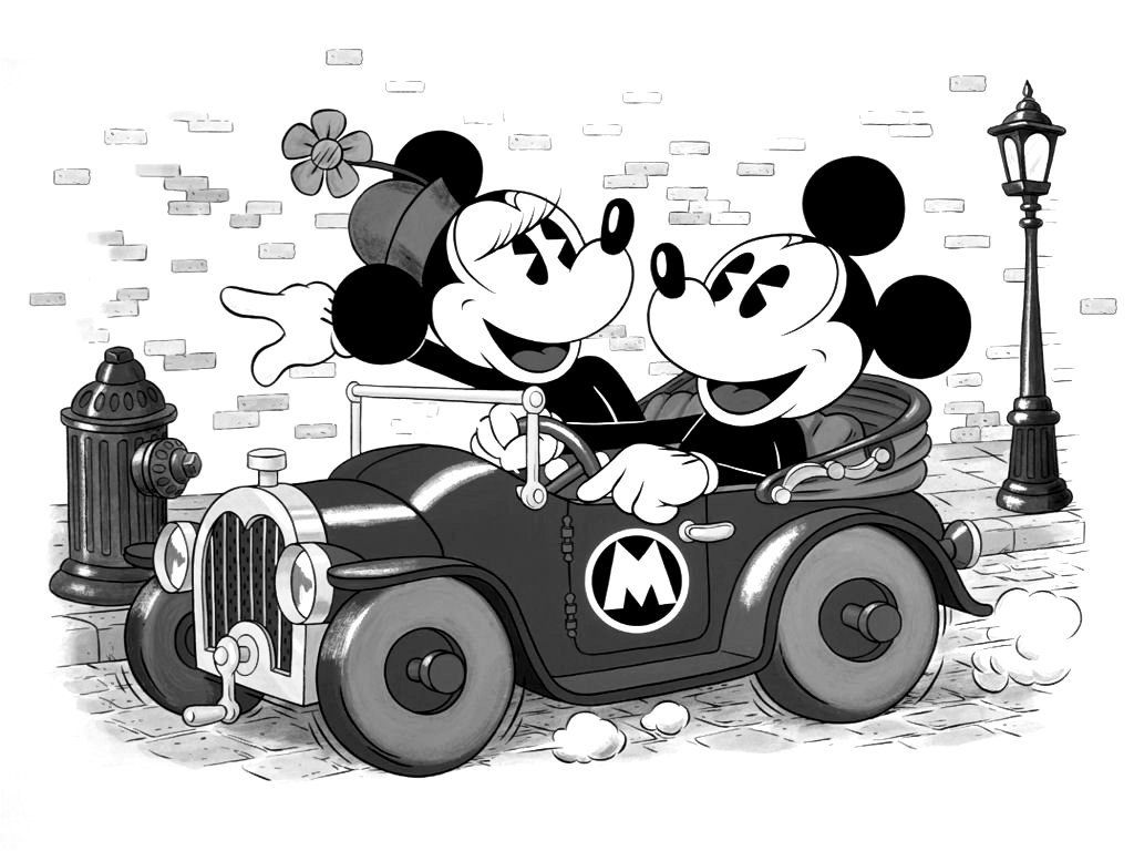 Mickey Mouse Wallpaper Black And White HD Skilal 802023