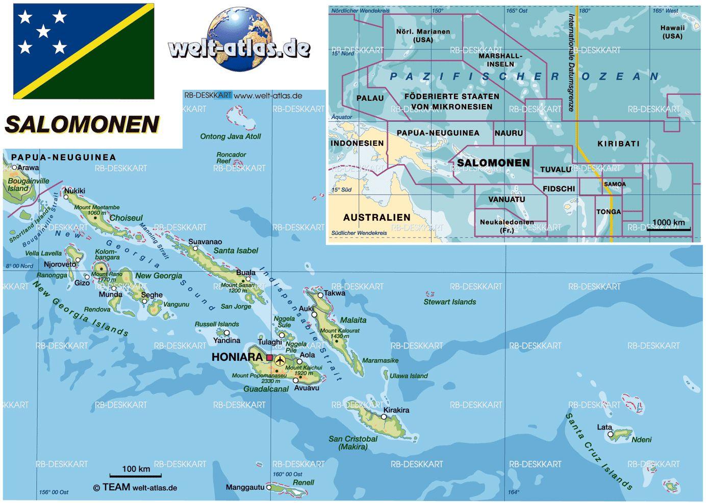 Solomon islands oceania pinterest solomon islands tahiti and fiji map of solomon islands map in the atlas of the world world atlas gumiabroncs Images