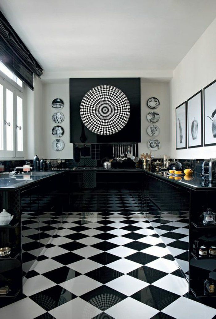 Le carrelage damier noir et blanc en 78 photos Pinterest House