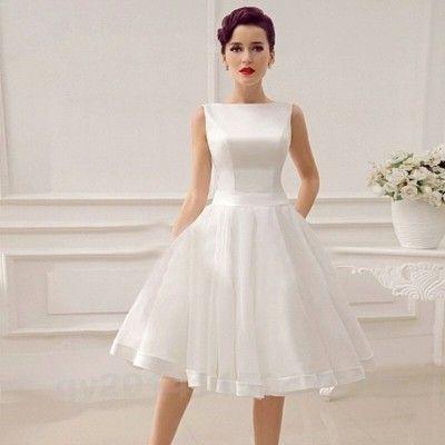 Suknia Slubna Sukienka Krotka Cywilny Promocja 6538127559 Oficjalne Archiwum Allegro Short Wedding Dress Vintage Knee Length Wedding Dress Bow Wedding Dress