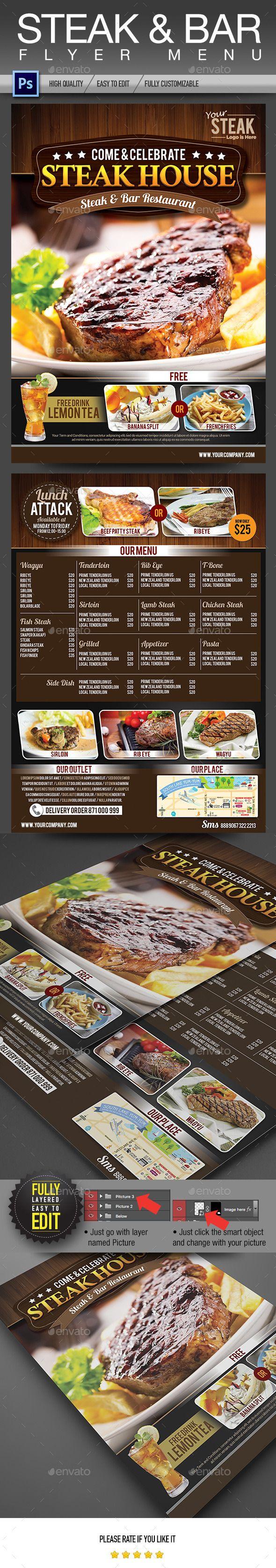 Steak & Bar Flyer Menu