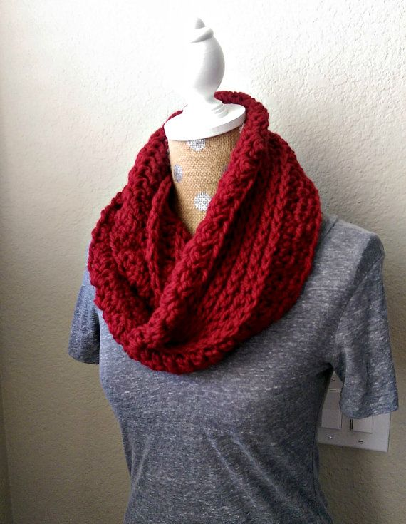 Chunky Ribbed Crochet Scarf Pattern Chunky Infinity by ...