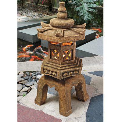 Design Toscano Sacred Paa Lantern Illuminated Statue Wayfair Zen Gardensanese