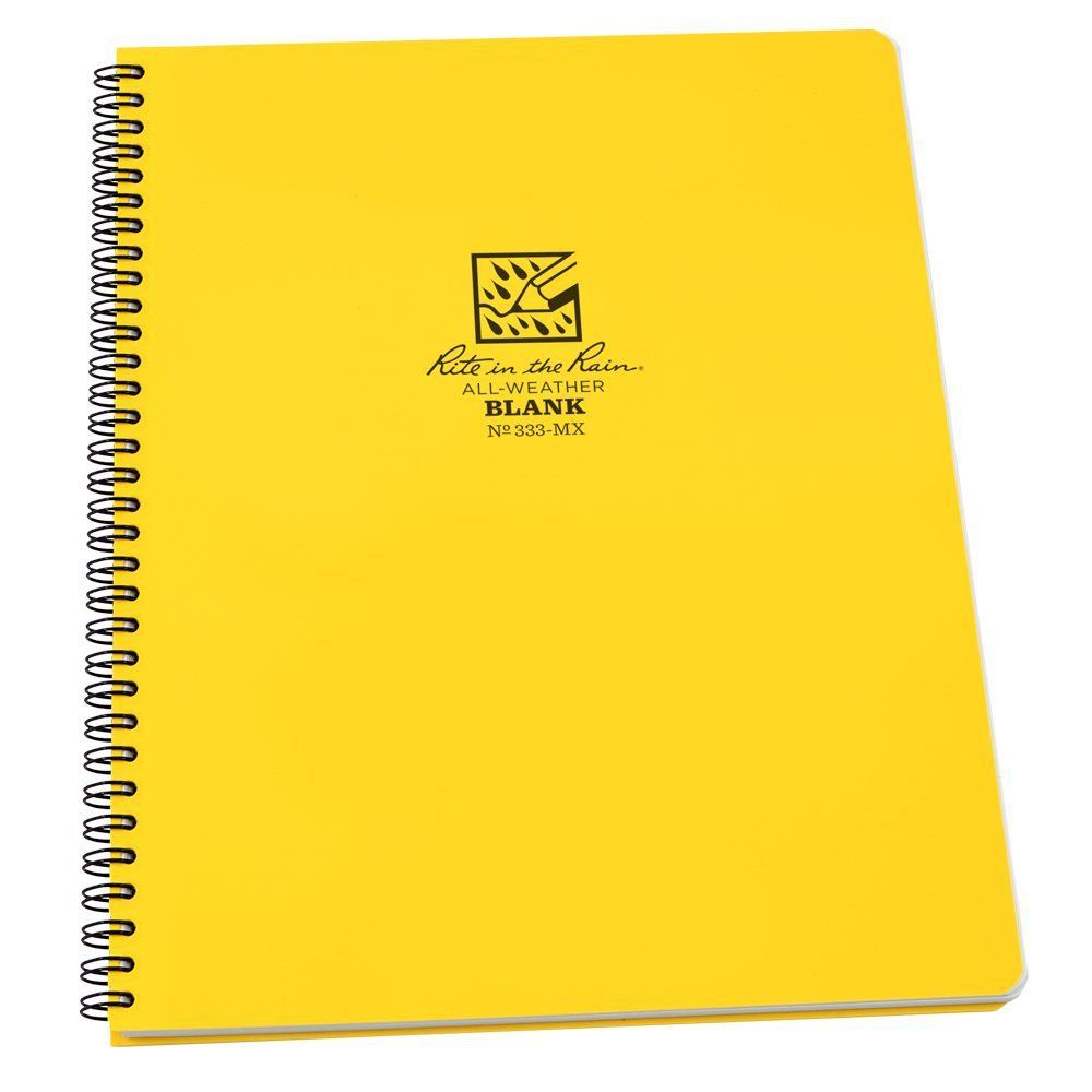 Rite In The Rain All Weather Side Spiral Notebook Waterproof