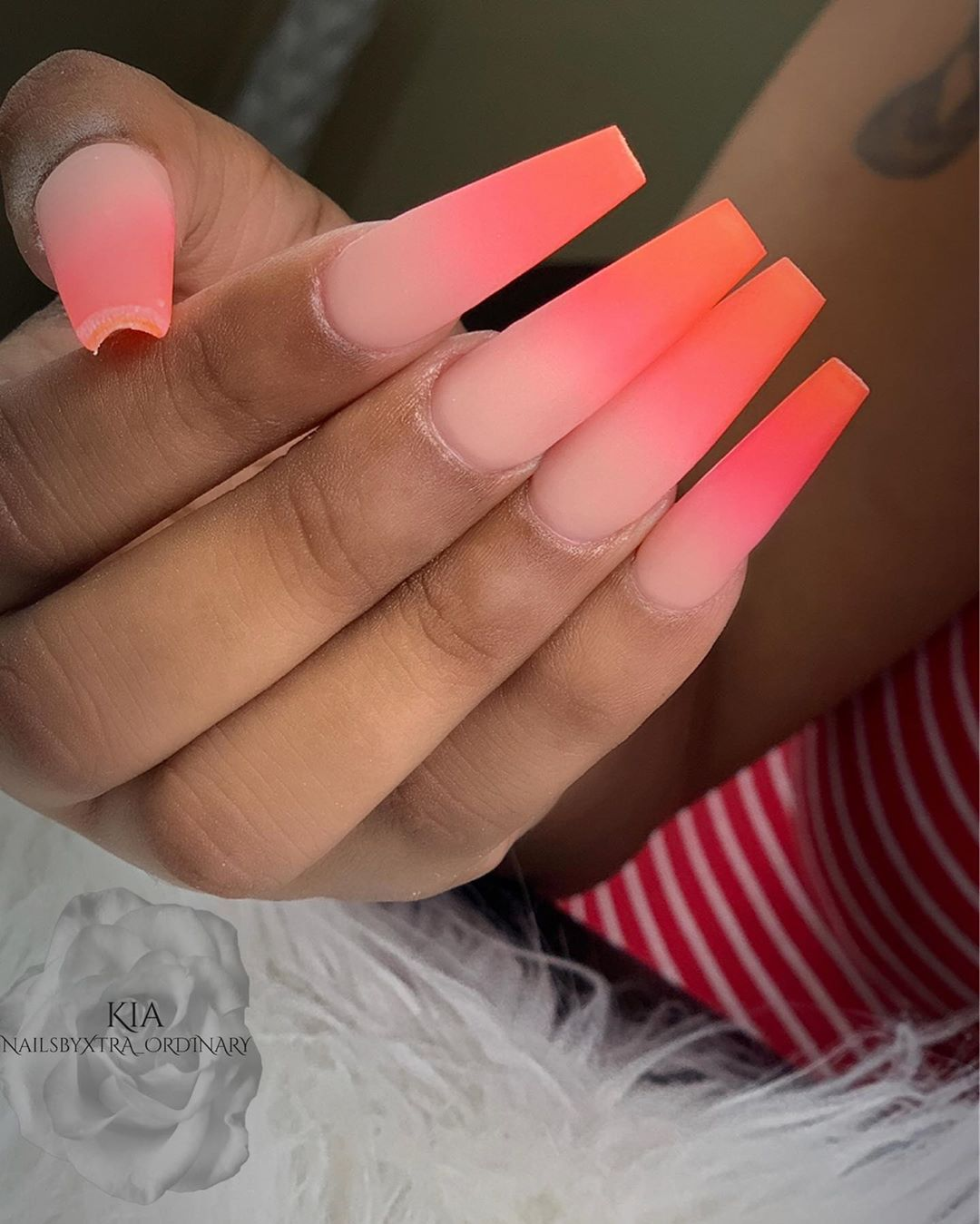 """Blended Nails : blended, nails, QUALITY, Nails, Cheap🙅🏽♀️, Instagram:, """"The, Secret, Ingredient, OMBRÉ, Blending, Consistently, 🤫💅🏽🥰, #Claws…, Nails,, Basic, Acrylic"""