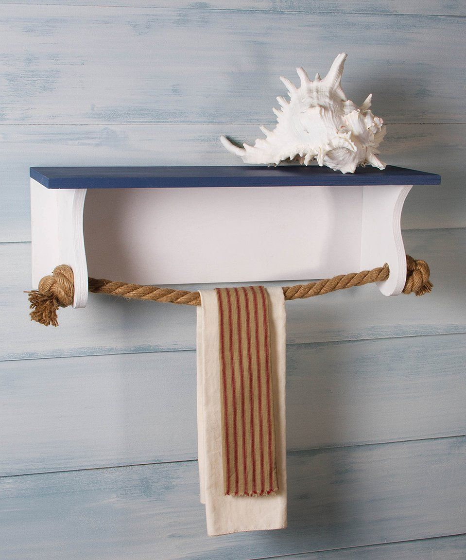Take a look at this Nautical Towel Rack Shelf today! | House and ...
