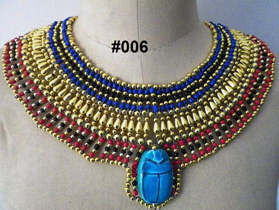 Collar Collar hecho a mano reina egipcia Cleopatra estilo & Egyptian Queen Cleopatra style Pharaohu0027s Necklace/Collar Handmade ...