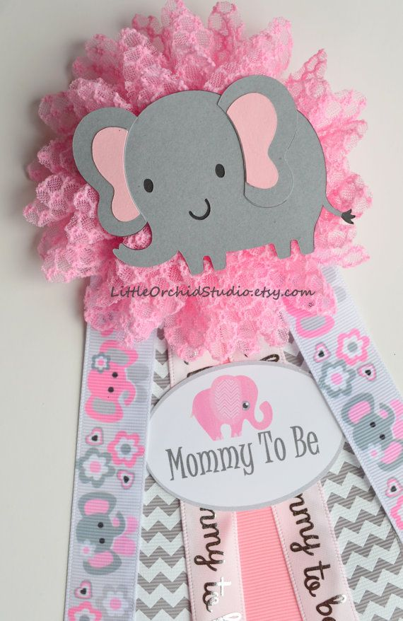 Elephant Corsage Pin Little Peanut Baby Shower Mommy To Be