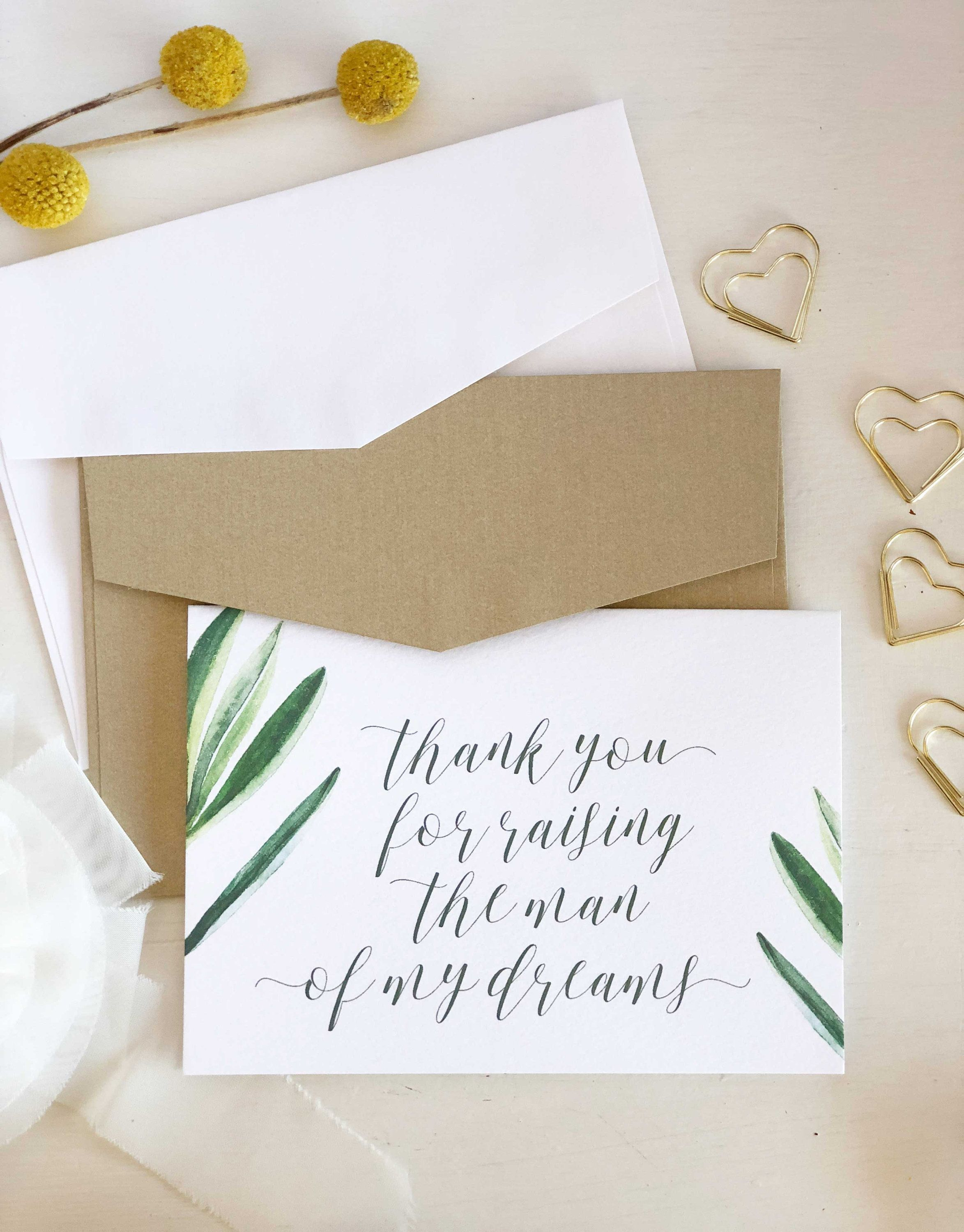 Parents in Law Wedding Card, Man of My Dreams, Parents Wedding Gift ...
