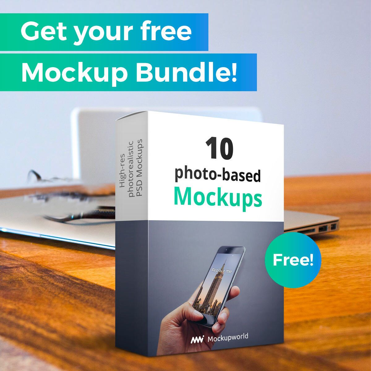 Mockup World The Best Free Mockups From The Web Free Mockup Mockup Photorealistic Mockups