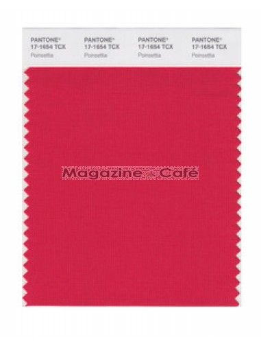 Pantone Smart 17 1654 Tcx Color Swatch Card Poinsettia Pantone