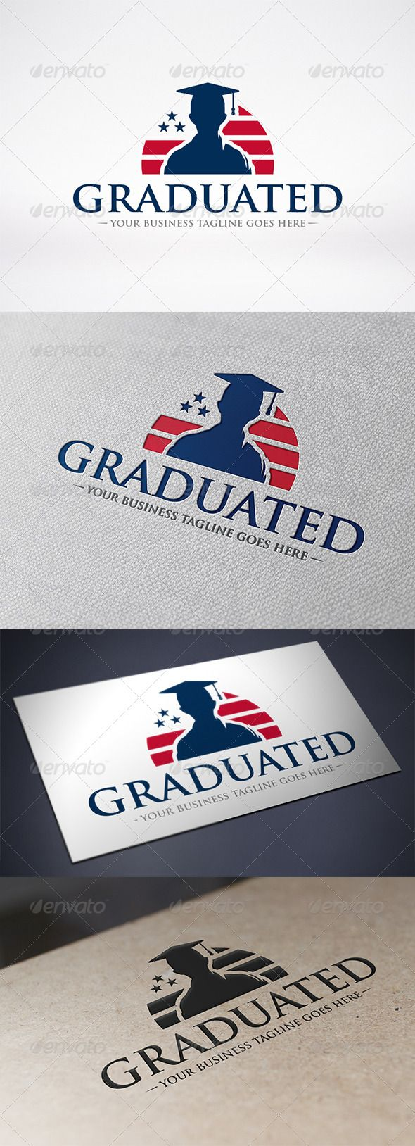 american graduation logo template  graphicriver