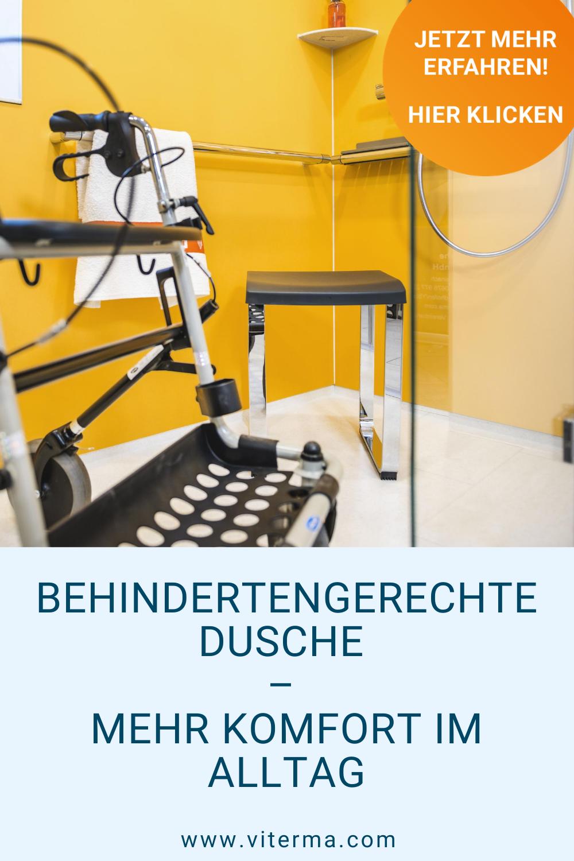 Behindertengerechte Dusche Mehr Komfort Im Alltag In 2020 Dusche Badsanierung Sanitar