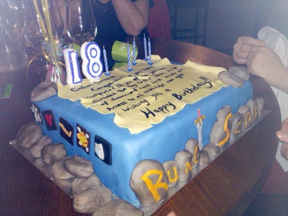 Runescape birthday cake Food yummy yummy food Pinterest