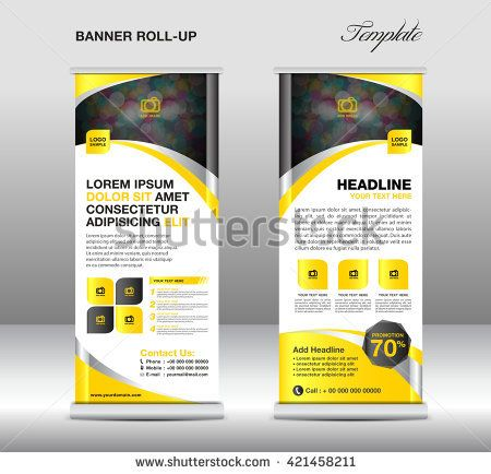 Roll up banner stand template, advertisement, flyer design, display ...