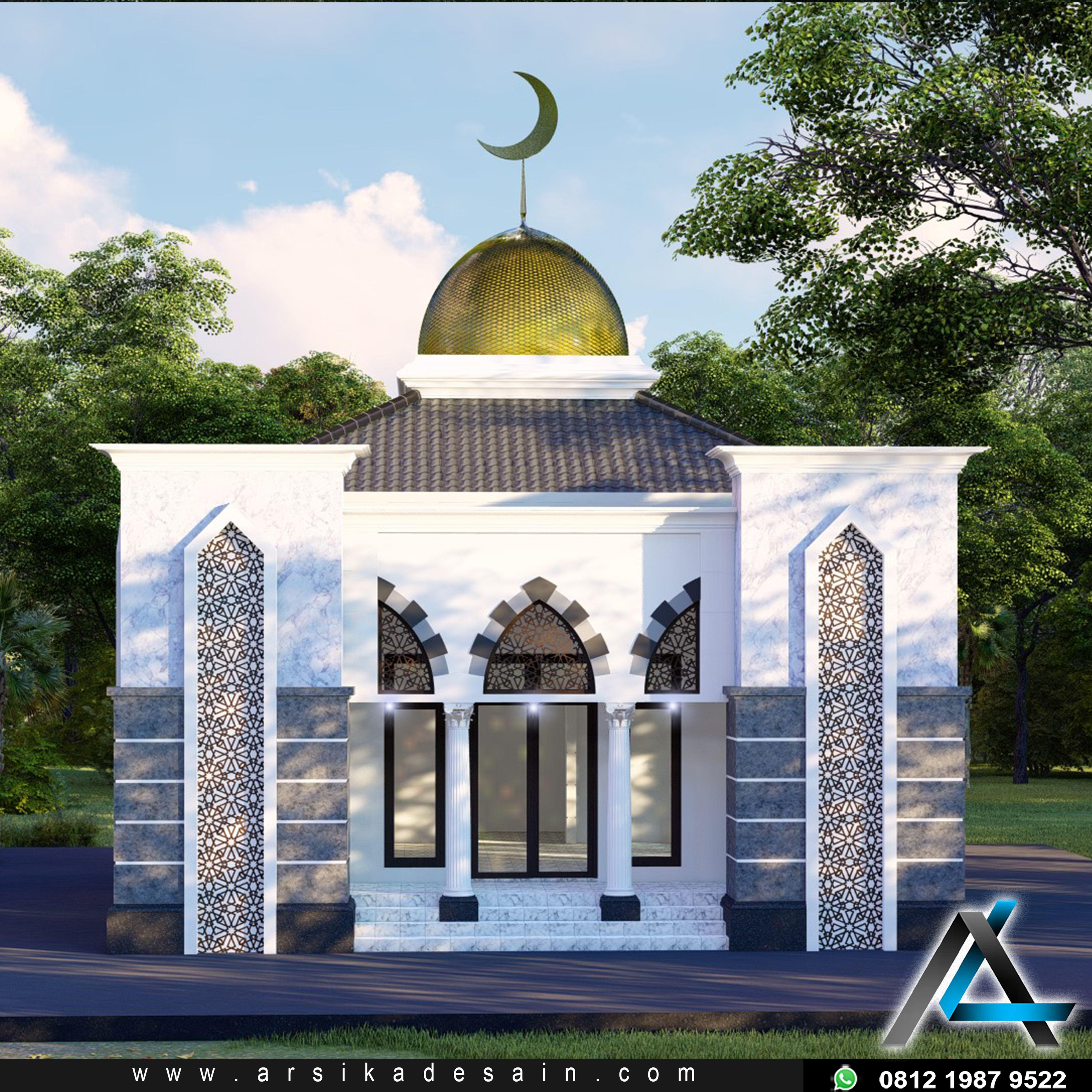 Desain Masjid Minimalis 2 Lantai Cek Bahan Bangunan Desain masjid kecil