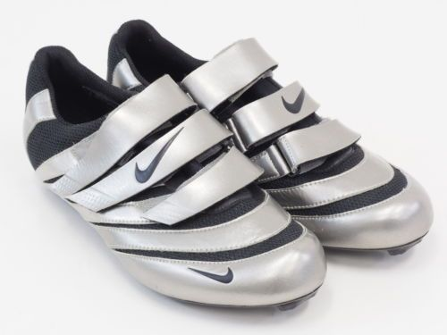 f0626287430c Nike Poggio Carbon Sole Road Bicycle Cycling Shoe 3 Bolt Size 42 us 8.5  Silver