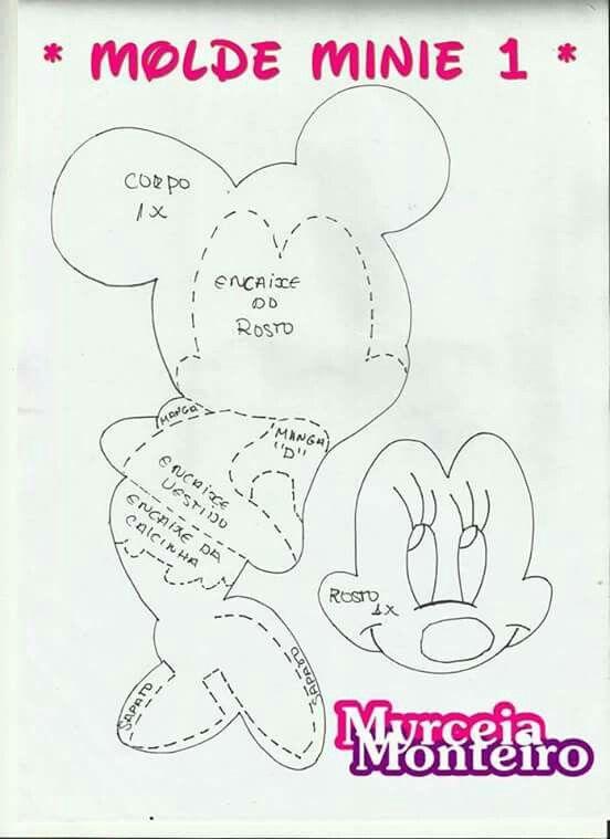 Molde de goma eva minnie | gabinetes | Pinterest | Mice and Manualidades