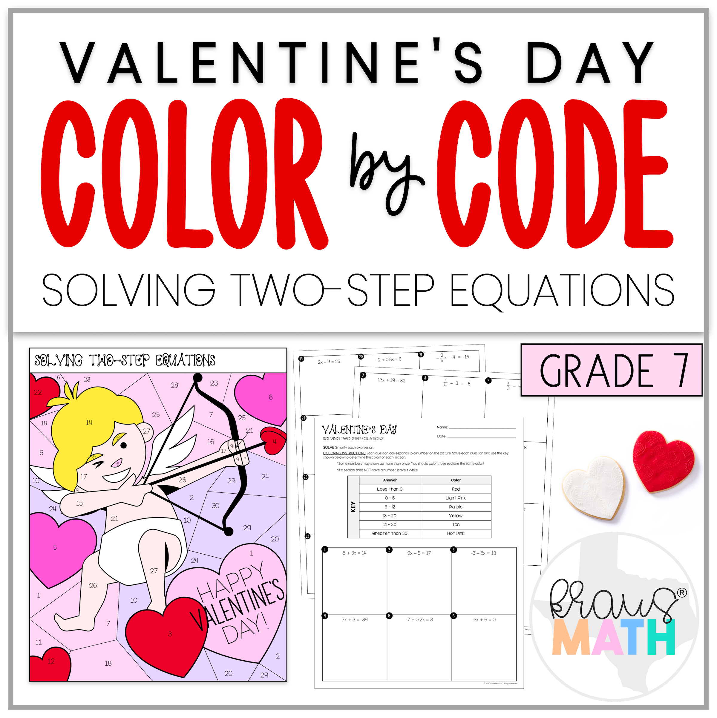 Valentine S Day Color By Number