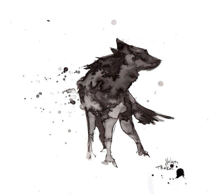 Wolf.ink von NelyaBelka.devian … auf @DeviantArt   – Kunst Tätowierung