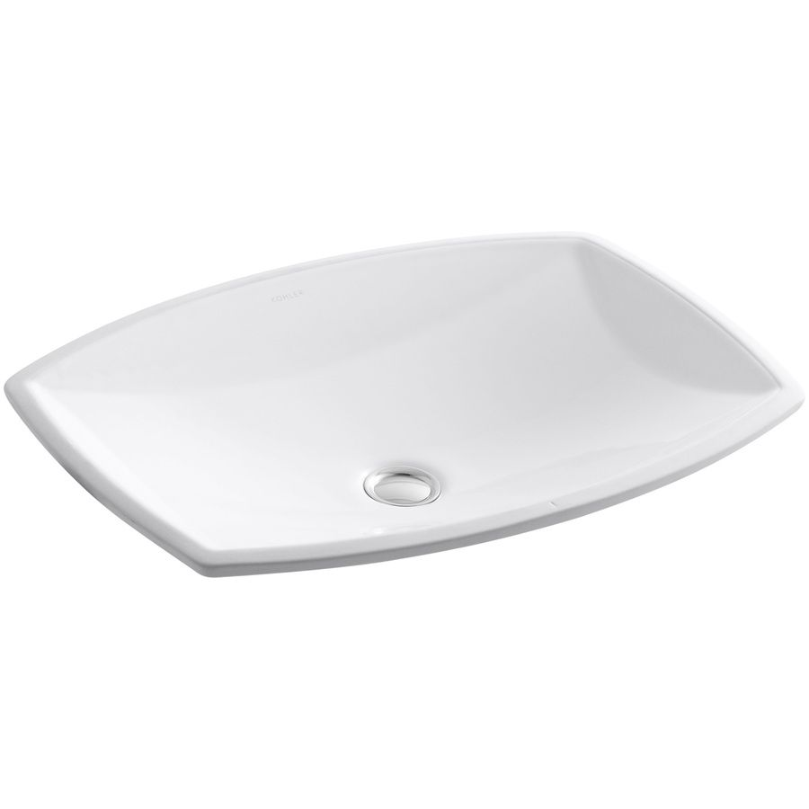 Lowes Undermount Bathroom Sink Shop Kohler Kelston White Undermount Rectangular Bathroom Sink