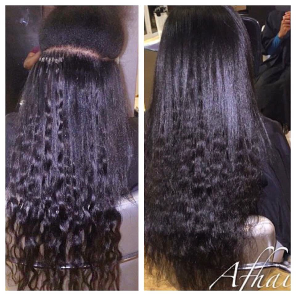 Dreamcatchers On An African American This Texture Of Hair We Use On All Clients F Hair Extensions Best Microlink Hair Extensions Curly Hair Styles Naturally