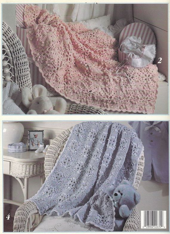 Granny Square Baby Afghan Crochet Patterns - 5 Designs - Grannies ...