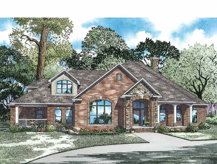Country Style House Plan 4 Beds 4 Baths 3354 Sq Ft Plan 17 2972 Country Style House Plans Craftsman Style House Plans House Plans