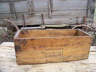 Antique Wooden Dynamite Shipping Crate Old Farm Primitive Vintage