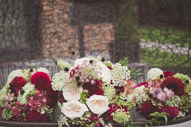 decoración de boda en combinación de vintage y el color de 2015
