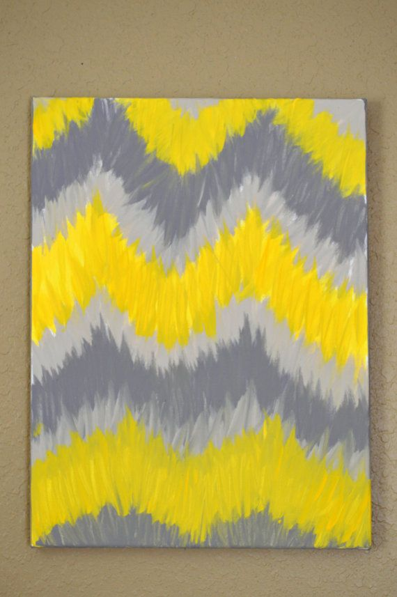Yellow & Gray Ikat Chevron Abstract by CharmedDesignsbyJNK | Charmed ...
