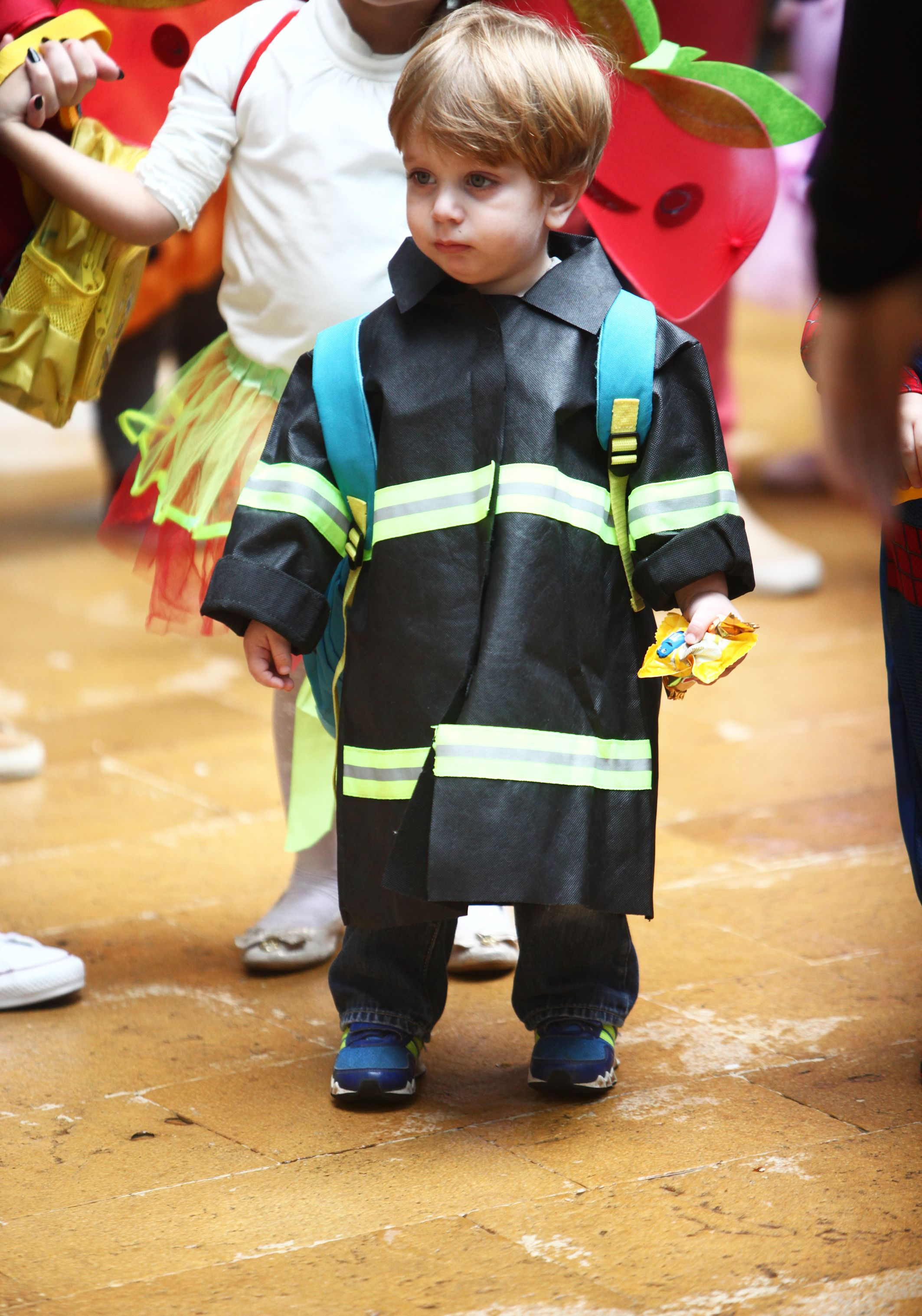 A little fire fighter at the ECC Halloween event on Beirut campus
