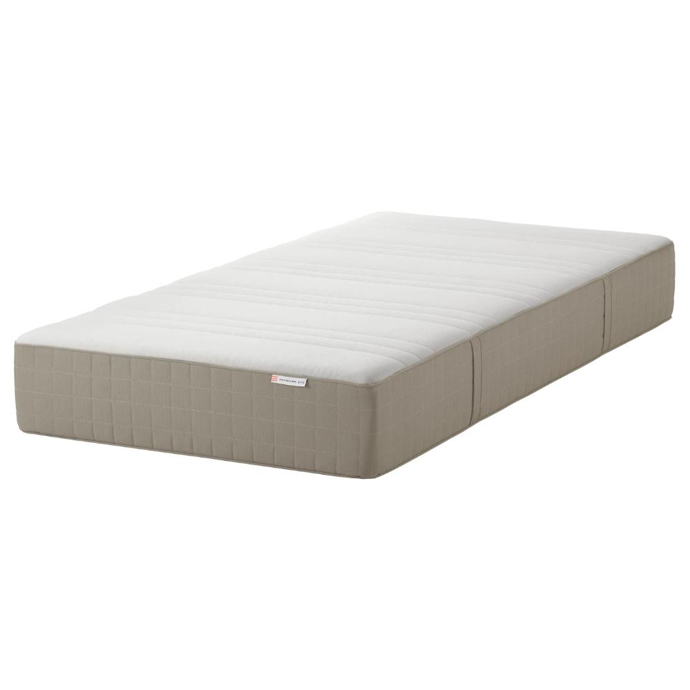 HAUGESUND Spring mattress, medium firm, dark beige, Twin