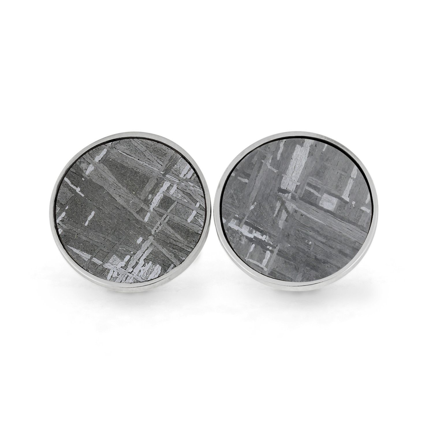 Black and Silver Check Cufflinks and Tie Clip Set Cuff.jp