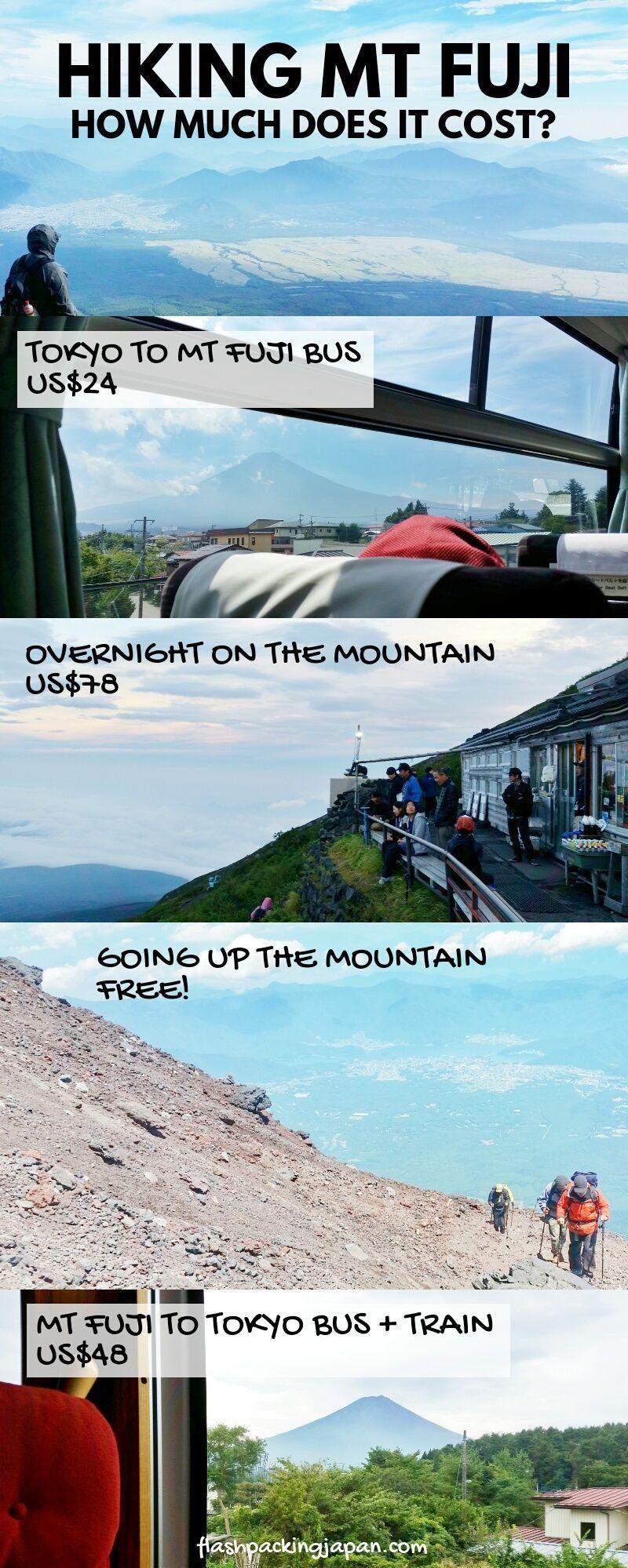 Climbing Mt Fuji Alone Cost From Tokyo Mountain Hut Stay Photos Hiking In Japan Flashpacking Japan Japan Travel Destinations Travel Japan Cheap Japan Travel