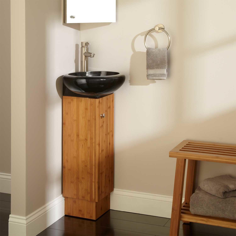 Attrayant Image Result For Corner Vessel Sink Powder Room