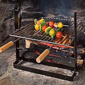SpitJack - Indoor Fireplace Grill | Fire places, Indoor and Grilling