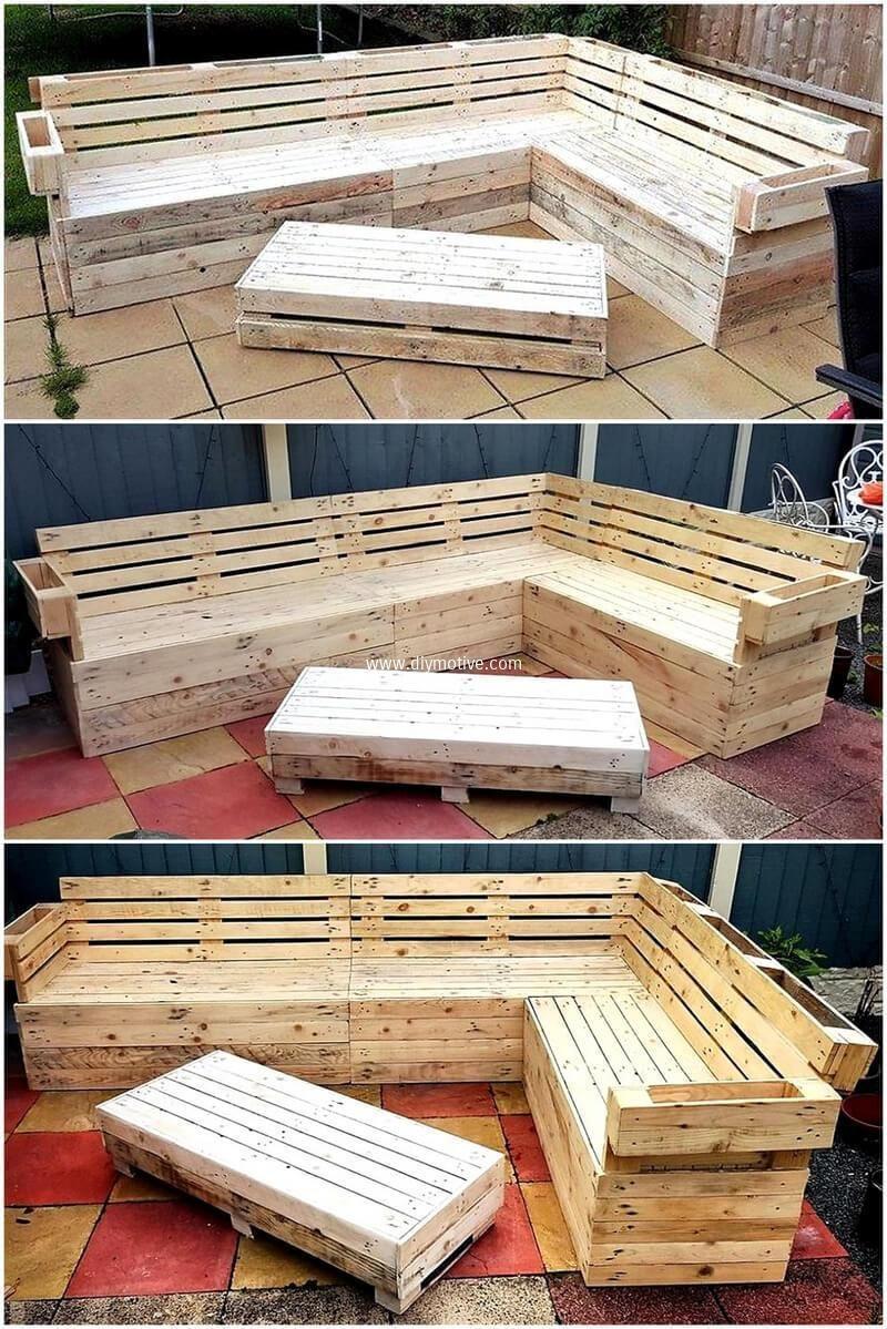 Pallet Wooden Made Garden Lounge Bedroomfurnitureideas Palletfurniture Pallet Projects Furniture Diy Pallet Furniture Outdoor Outside House Decor