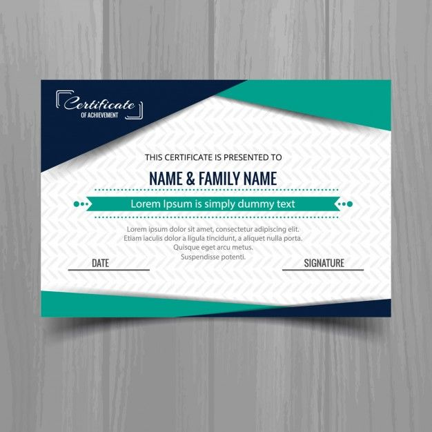 Geometric Certificate Template In Modern Style Free Vector Graphic