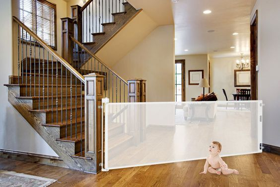 Retract A Gate United States Us Retractable Baby Gate By Smart Retractable Baby Gate Baby Gates Retractable Pet Gate